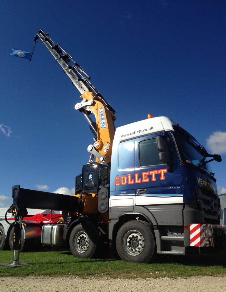 Collett Transport Acquire New Effer 205 Crane Vehicle