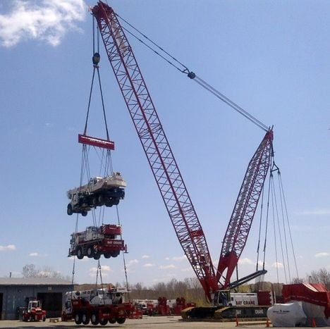 Eight big crawlers for Bay Crane