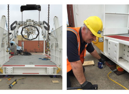 Load Cells Weigh Maritime Equipment