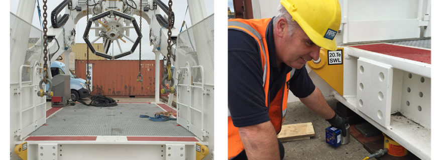 Load Cells Weigh Maritime Equipment
