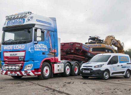 Central Demolition Celebrate Scotland's First DAF XF FTM 8x4