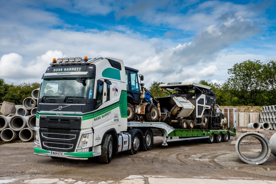 Ross Garrett Transport Sloped Deck from Andover Trailers