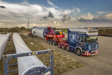 McFadyens Transport, Charles McFadyen, Wind Transport, Scania R164/580, Scania Longline, Scania Longline 8x4, tribute, wind energy, Special Truck Interiors, Oshkosh, Nooteboom, Goldhofer, windfarm, Enda