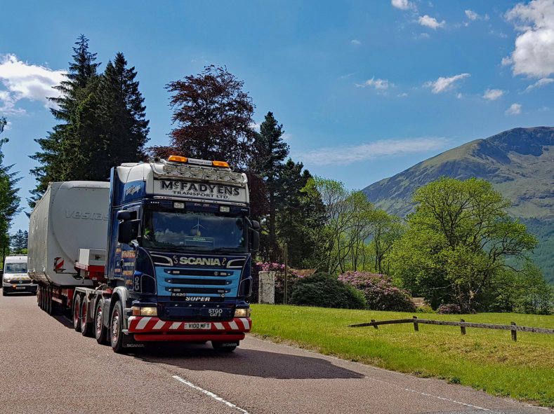 Jack Shepherd, Scania, STGO CAT3, McFadyens Transport, escort vehicle, vestas