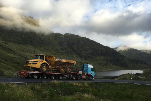 Steve Butler Transport, Volvo Trucks, Volvo CE, Scenic, heavy haulage