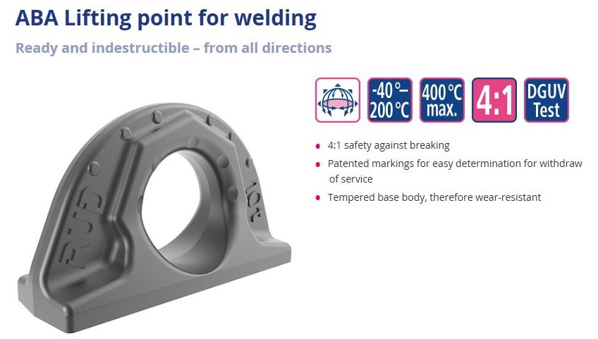 ABA Welding Lifting Point by from RUD Chains