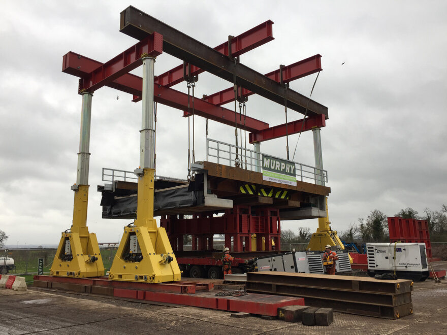 Enerpac Gantry Lift for Replacement Rail Bridge Deck