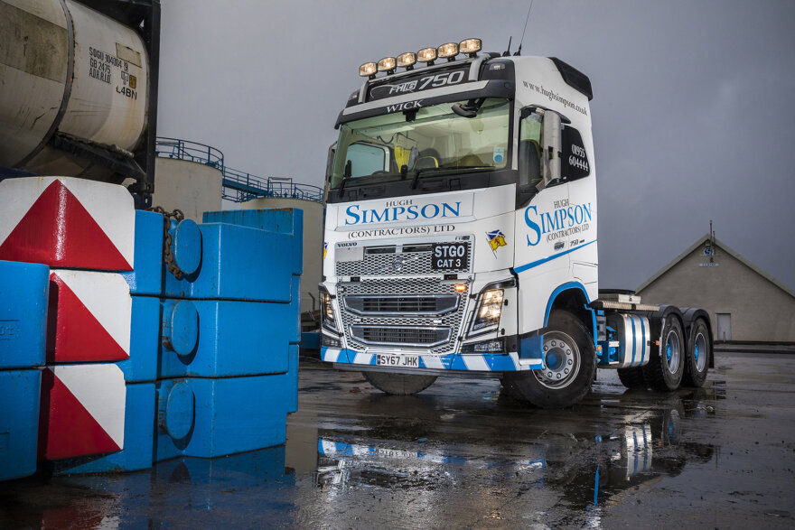 Hugh SImpson Contractors New Volvo FH16-750