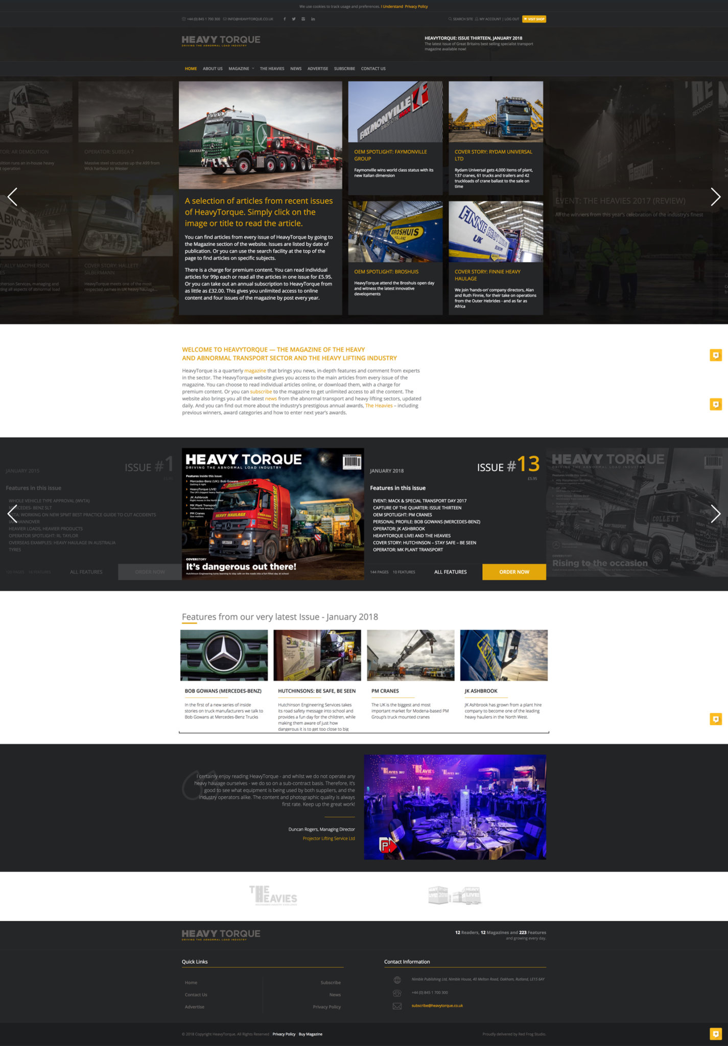 HeavyTorque: Website LIVE