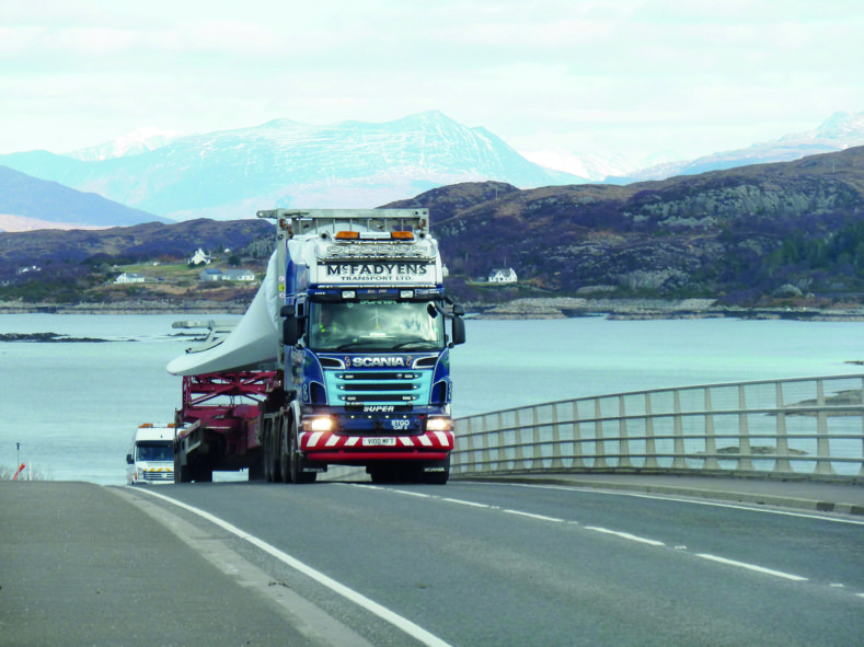 Peter Sutherland, COTQ, competition, Scania, McFadyen Transport, heavy haulage, scenery, Scotland
