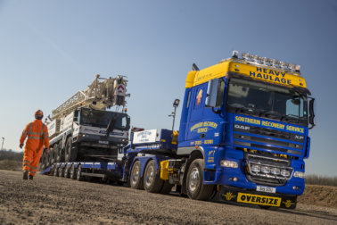 Southern Recovery, DAF, Faymonville, Rydam Universal, heavy haulage