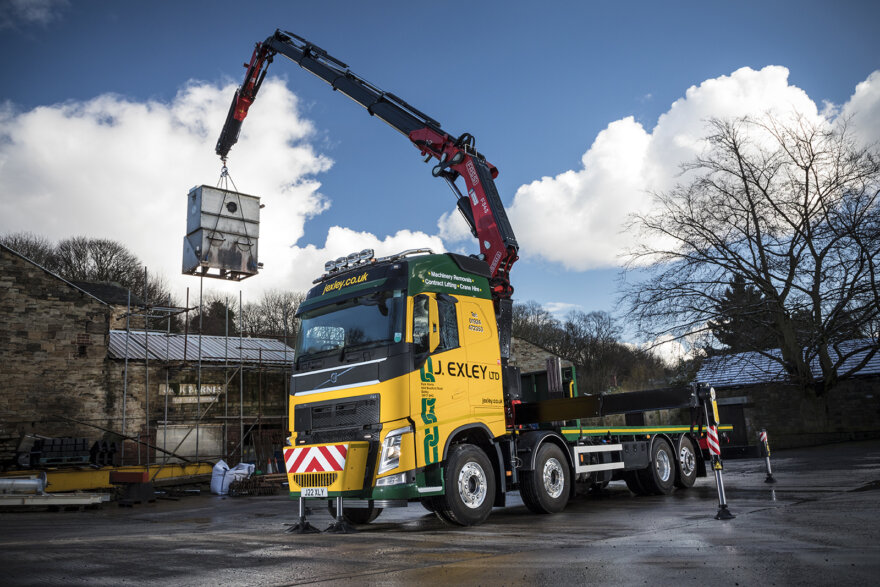 J Exley FH Volvo Rigid Crane