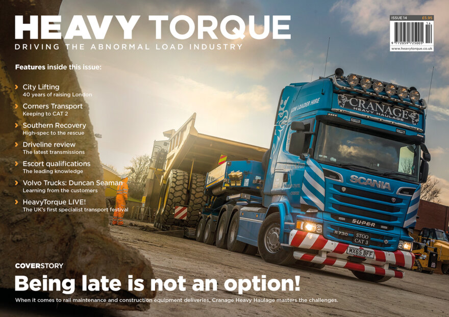 heayv haulage, specialist transport, abnormal loads, wide loads, heavytorque, cranage haulage, ascroft transport, collett & sons, city lifting, drivelines, duncan seaman, volvo trucks, voith, trc, turbo retarder clutch, heavytorque live, the heavies, southern recovery services, faymonville, corners transport, scania, effer, magazine
