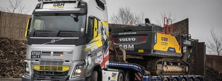 GBM UK, Volvo Trucks, Faymonville Trailers, Crossroads Truck & Bus, heavy haulage
