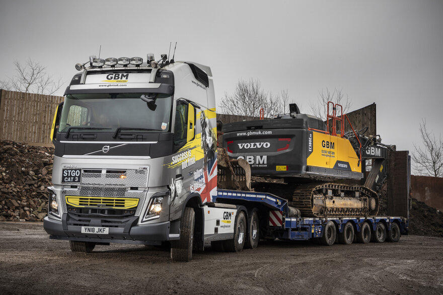 GBM UK, Volvo Trucks, Faymonville Trailers, Crossroads Truck & Bus, heavy haulage