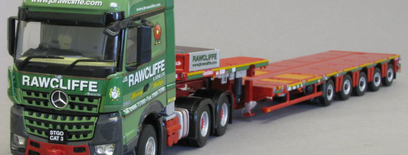 Search Impex, JB Rawcliffe, model, tractor and trailer, Mercedes-Benz Arocs, Nooteboom Multi-PX