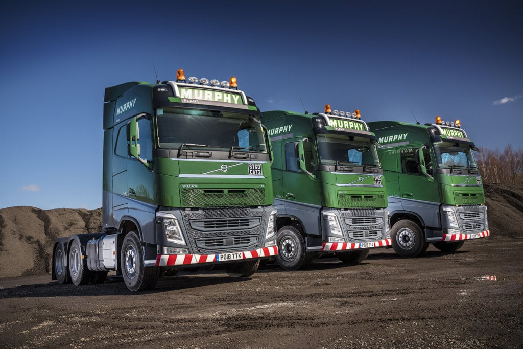 Murphy Group, Murphy Plant, heavy haulage, abnormal load, construction equipment, Volvo Trucks, FH540