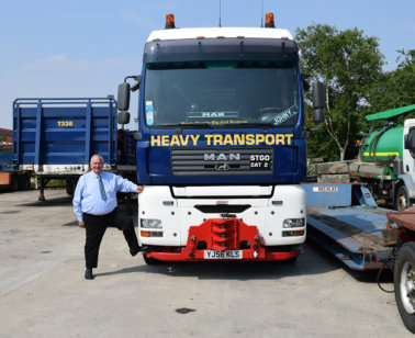 MAN Truck & Bus, Collett & Sons Ltd, John Donnelly, Geoff Davies, David Collett. Lincoln Collett