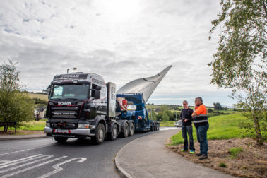 O'Neills Heavy Haulage, Voser Transport, Scheuerle, Adapter Trailer, Wind Transport