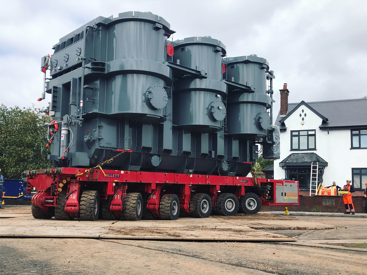Collett Undertake SPMT Transformer Operations