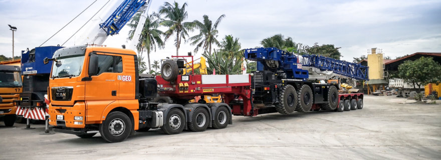 Faymonville Low Bed Power for Geo Transport and Construction Inc