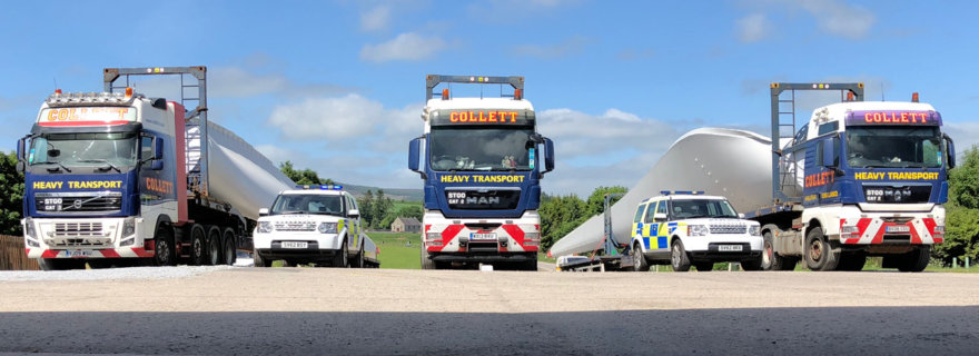 Dorenell Wind Farm Delivered by Collett Transport