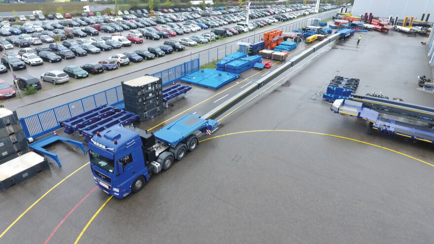 Enercon Acquire World's Longest Flatbed Semitrailers from Goldhofer