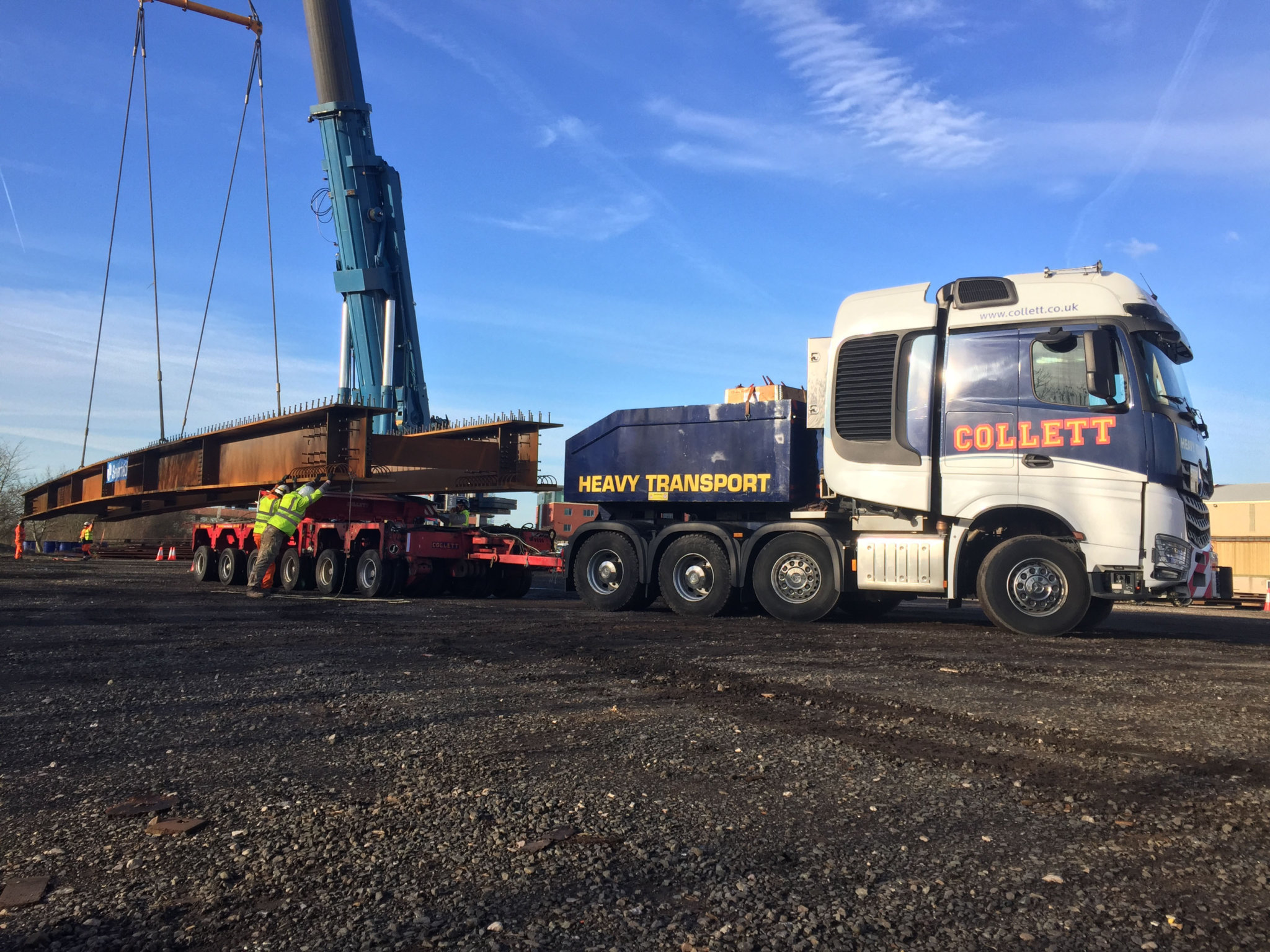 Collett Transport Deliver Severfield Girders
