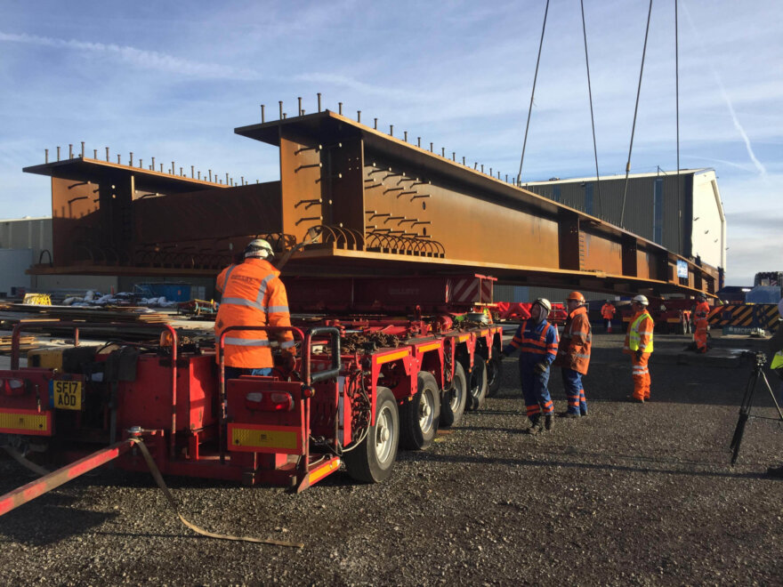 Collet & Sons Provide Turntable Tech for Severfield Girders