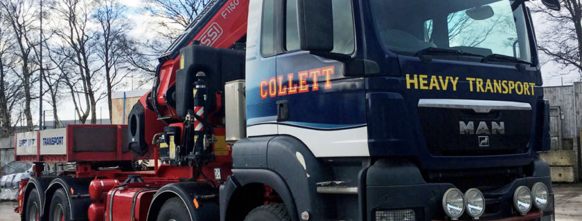 Collett Transport Unveil New Crane Vehicle