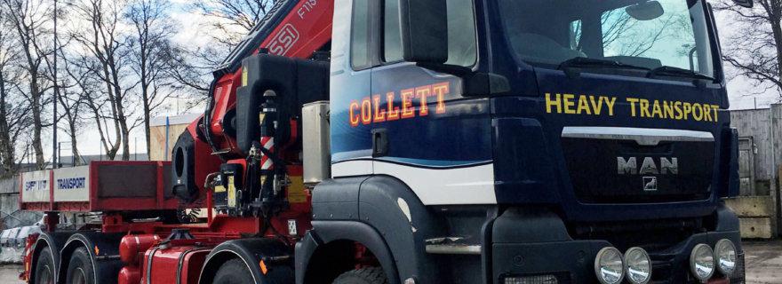 Collett Transport Unveil New Crane Vehicle