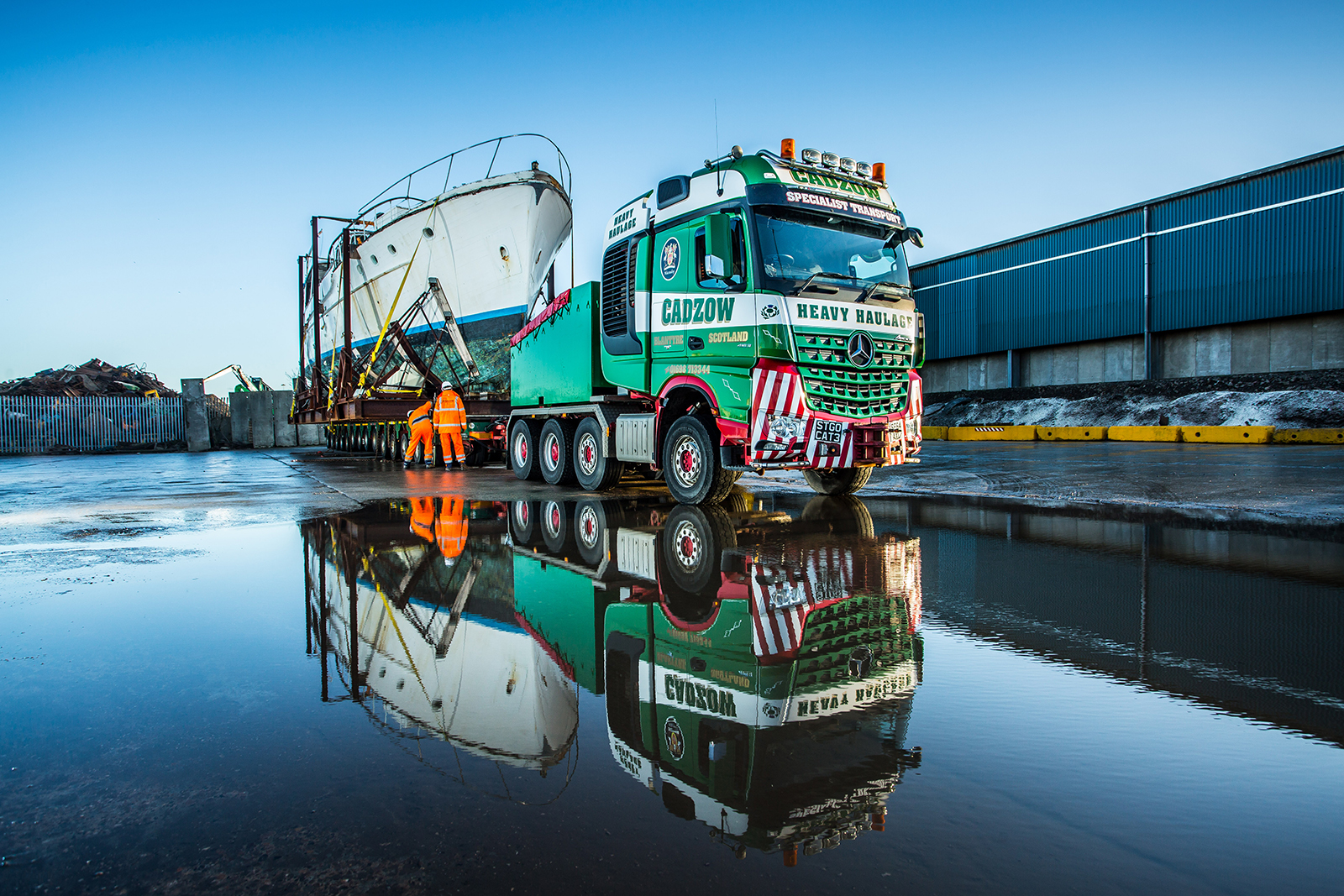 Boat Project for Cadzow Specialist Haulage