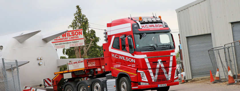 Well-known industrial and plant fabrication carriers, H.C. Wilson Transport Ltd. of Suffolk has ordered its first new Volvo truck; a high specification FH-540 8x4 Tridem tractor unit, supplied by Ian Reed, Area Sales Manager at Volvo Truck and Bus Centre East Anglia.