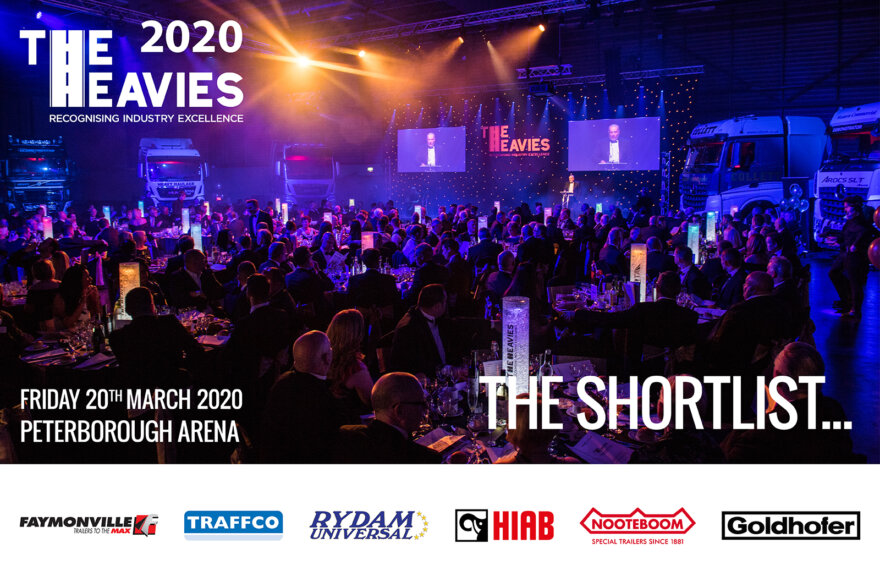 Tue Shortlist for the specialist transport awards, The Heavies 2020
